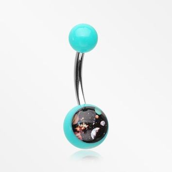 Galaxy Daze Acrylic Logo Belly Button Ring