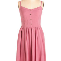 ModCloth Mid-length Spaghetti Straps A-line Breezy Listening Dress