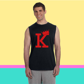 K CROWN Sleeveless T-shirt