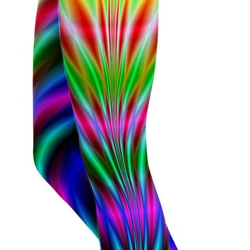 Psychedelic Neon Rave Leggings