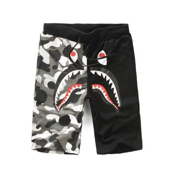 Men Casual Men's Fashion Camouflage Noctilucent Beach Pants [429894959140]