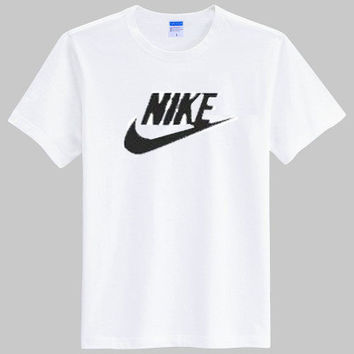 """Nike"" Unisex Simple Casual Classic Letter Print Round Neck Short Sleeve Couple Cotton T-shirt"
