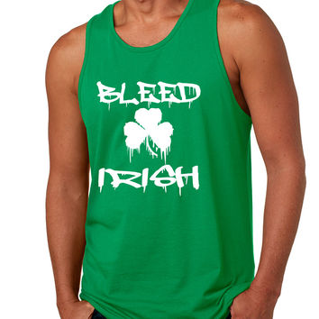 Men's Tank Top Bleed Irish St Patrick's Party Top Love Irish