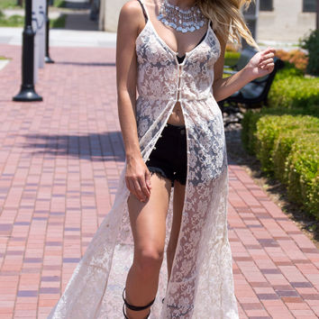 Desert Dance Lace Duster/Top- Natural