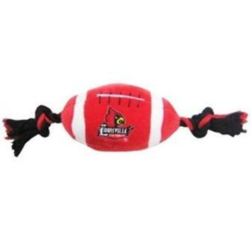 ONETOW Louisville Cardinals Plush Football Dog Toy