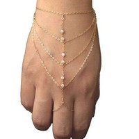 ON SALE - Sparkly Chains Body Jewelry Bracelet