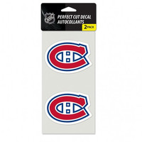 Montreal Canadiens Set of 2 Die Cut Decals