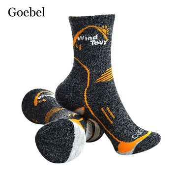 Goebel Men Cotton Socks High Quality Fashion Socks Male Winter Thermal/Thick In Tube Warm Socks Brand Man 3pairs/lot