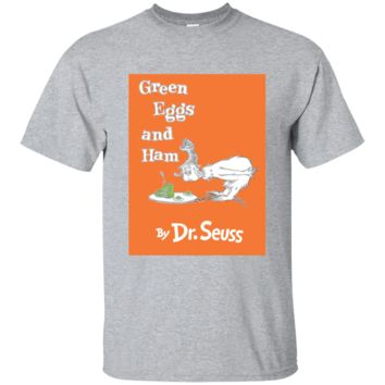 Dr. Seuss Green Eggs and Ham Book Cover Ultra Cotton T-Shirt