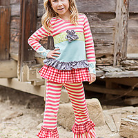 Giggle Moon Girls Designer Outfit Peace and Joy