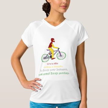 Riding bike White Women's Champion V-Neck T-Shirt