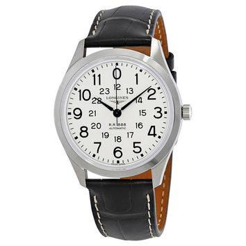 Longines Railroad Automatic White Dial Mens Watch L28034230