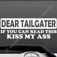 Funny Car Truck Sticker Vinyl Decal Tailgater Kiss My Ass Joke Fits Honda Civic