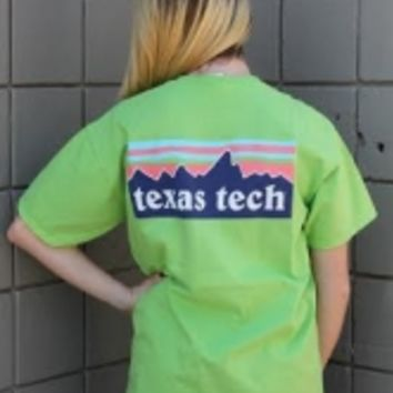 Texas Tech Patagonia Mountain Comfort Colors Pocket T-Shirt
