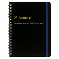 "Rollbahn Notebook Black Small 4.25 x 5.5"" Or Large 5.5 x 7"""