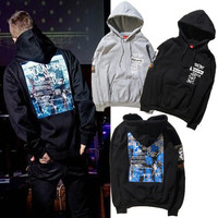 Couple Hoodies Hip-hop Fashion Outerwear  [8598658371]