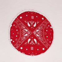 Missguided - Bandana Print Towel Red