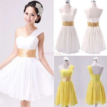 Sexy Party Evening Wedding Bridesmaid Prom Ball Mini Dress Formal Summer Dresses SV002927 Vestidos = 1956881668