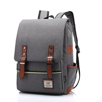 Casual Men Women Travel Laptop Backpack Vintage Canvas Men's Backpacks Student School Bag PT884