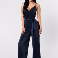 Switch Up On You Jumpsuit - Navy
