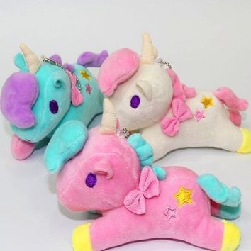 Cute Plush stuffed animals horse Unicorn Plush Doll Kids Toys Unicorn Soft Stuffed Animal Baby Dolls 14cm
