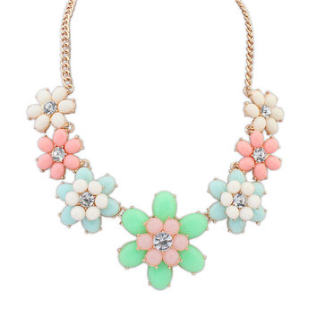 New Arrival Gift Stylish Shiny Jewelry Floral Sweets Necklace [4918843076]