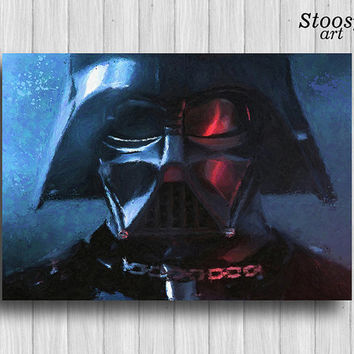 Darth Vader print star wars watercolor poster