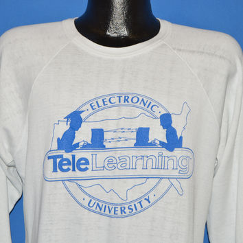 80s Tele Learning Electronic University Sweatshirt Medium