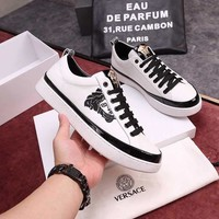 Versace Men Fashion Casual Sneakers Sport Shoes White