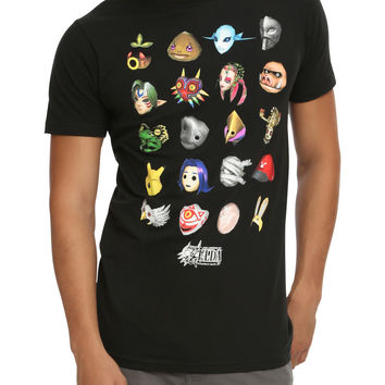 The Legend of Zelda: Majora's Mask Masks T-Shirt