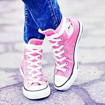 DCCKHD9 Converse All Star Sneakers Adult Leisure High-Top Leisure shoes Pink