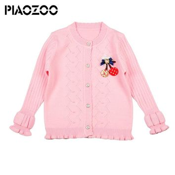 Fall sweaters for girls ruffle cardigan Clothing Solid toddler girls Sweaters New Baby Girls Kids Clothing P35