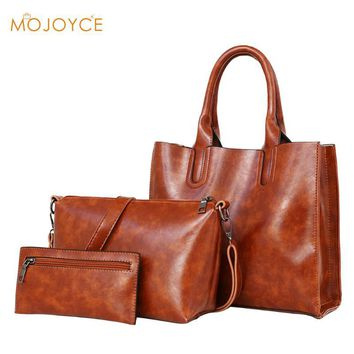 3Pcs/Set Composite Bag PU Leather Women Bag Leather Handbags High Quality Casual Female Bag Trunk Tote luxury Brand Shoulder Bag