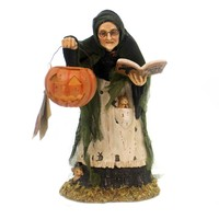 Halloween STORYBOOK WITCH Polyresin Haunted Woods Td7635