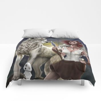 Princess Mononoke Comforters by PaintedSoul