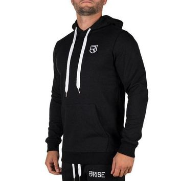 Autumn Winter New Mens Hooded Sweatshirt Gyms Fitness workout Hoodies Joggers clothes Tops Male Casual Brand cotton pullover