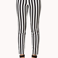 Bold Stripe Cigarette Pants