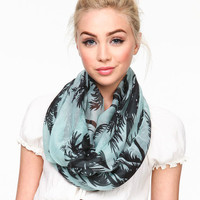 PALM TREE INFINITY SCARF