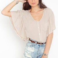Ruffled Batwing Blouse in Clothes Tops at Nasty Gal