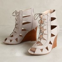 Maddie Lace-Up Wedges by Klub Nico