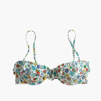 Ruffle underwire bikini top in Liberty® Edenham floral : Women Prints & Patterns | J.Crew