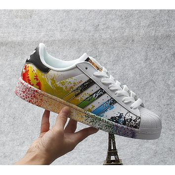 Originals Adidas Superstar PRIDE Men's Women's Classic Sneaker Sprot Shoes - D70351