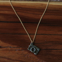 Little Camera Charm Necklace