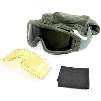 Military Airsoft Tactical Goggles Eyewear Outdoor Sport Tactical Sunglasses  Paintball  Army Airsoft Safety Tactical Glasses
