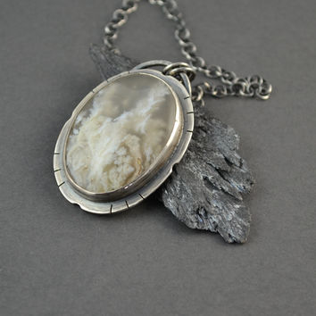 Bast Plume Agate Necklace