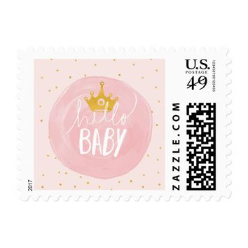 Hello Baby | Baby Shower Postage Stamps
