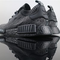 FREE SHIPPNG Adidas NMD Pitch Black Friends Family F F Bape HU Glitch S80489