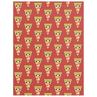 Kawaii Pizza Slice Red TP Fleece Blanket