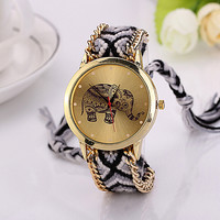 Elephant Braided Rope Quartz Watch