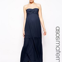 ASOS Maternity Bandeau Maxi Dress With Detachable Straps